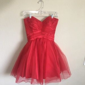 Promgirl Roberta Red Tulle Party Dress
